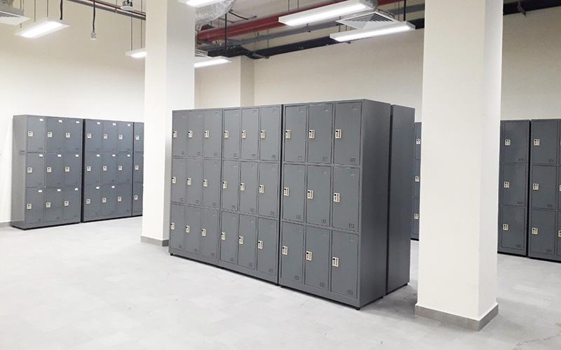 Tủ locker sắt kết hợp với khóa số 3S