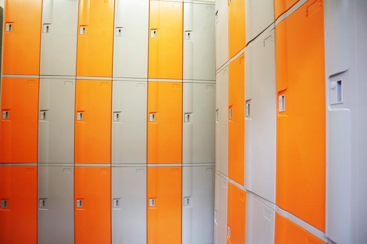 Hình chụp tủ locker nhà máy