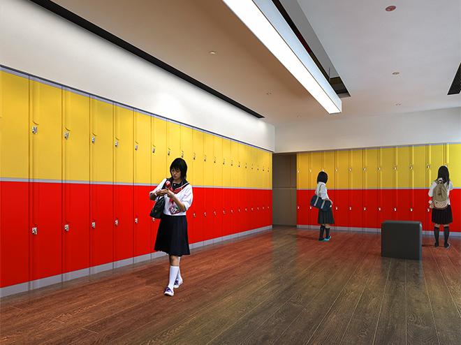 Tủ locker ABS cho khối trung học