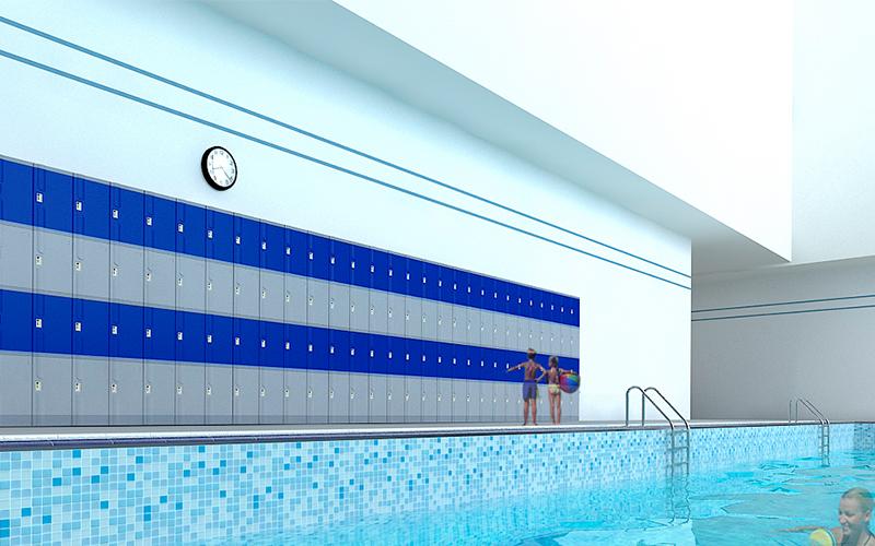 Tủ locker hồ bơi
