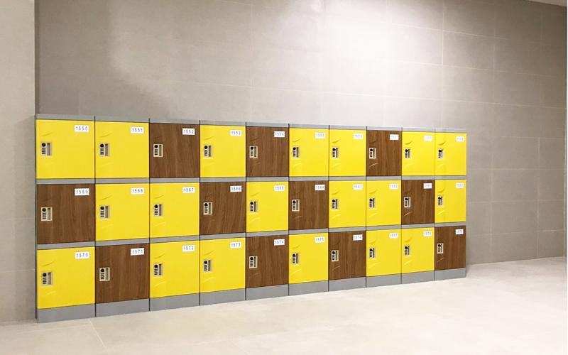 Tủ locker khu tập luyện thể thao
